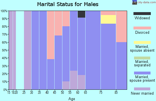 Zip code 59843 marital status for males