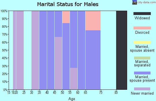 Zip code 59927 marital status for males