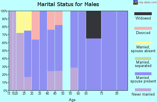 Zip code 59936 marital status for males