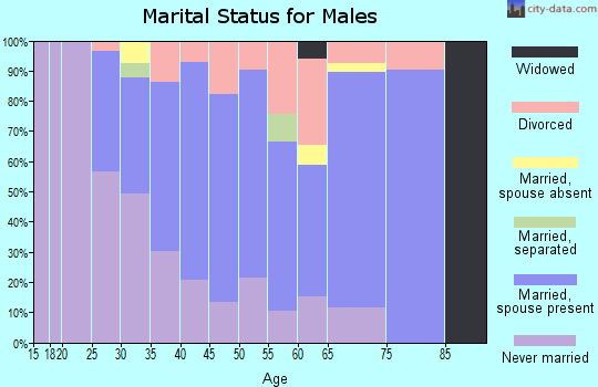 Zip code 60041 marital status for males