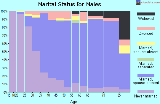 Zip code 60068 marital status for males