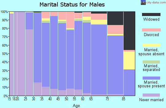 Zip code 60089 marital status for males