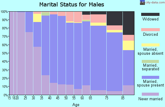Zip code 60515 marital status for males