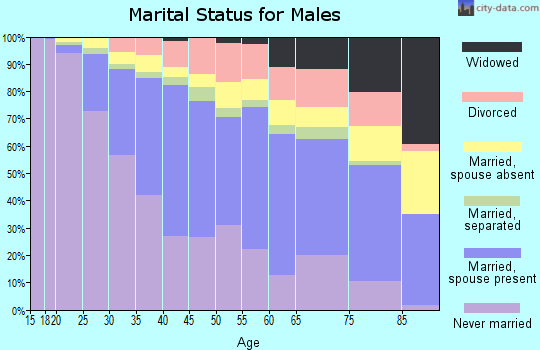 Zip code 60609 marital status for males