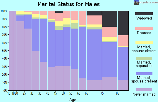 Zip code 60618 marital status for males