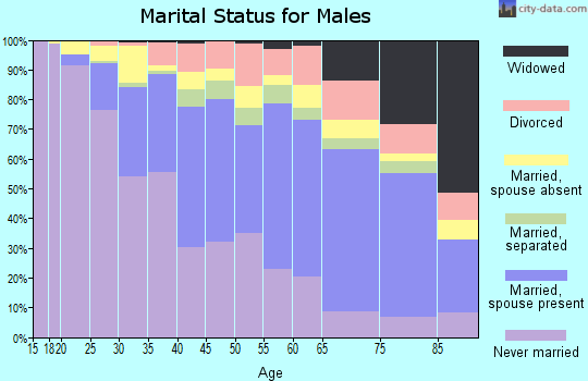 Zip code 60623 marital status for males