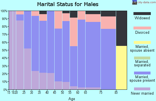 Zip code 61240 marital status for males