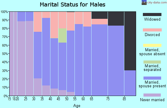 Zip code 61241 marital status for males