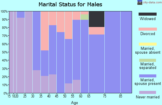 Zip code 61330 marital status for males