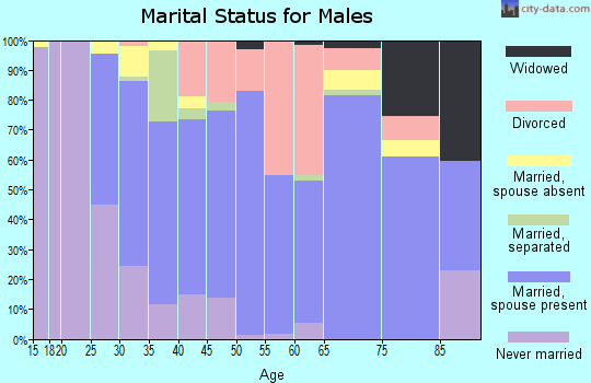 Zip code 61341 marital status for males