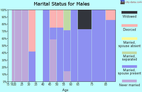 Zip code 61460 marital status for males
