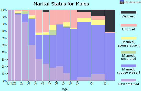 Zip code 61520 marital status for males