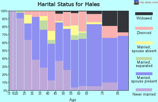 Zip code 61866 marital status for males