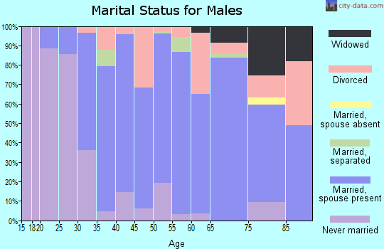 Zip code 62052 marital status for males