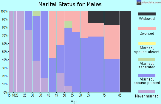 Zip code 62239 marital status for males