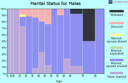 Zip code 62277 marital status for males