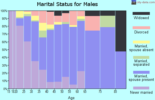 Zip code 62294 marital status for males