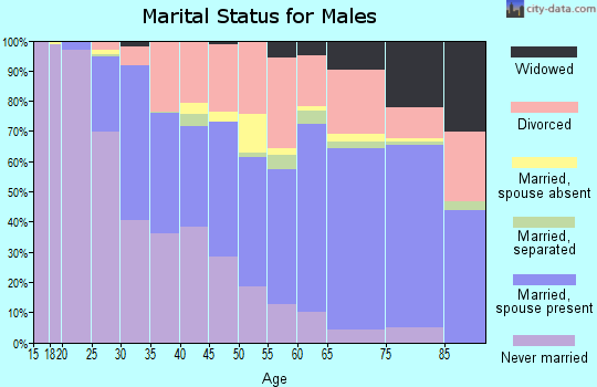 Zip code 62702 marital status for males