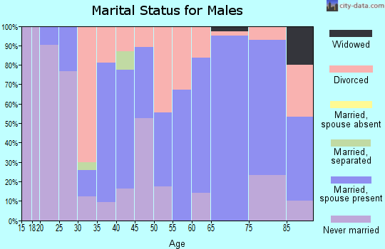 Zip code 62824 marital status for males