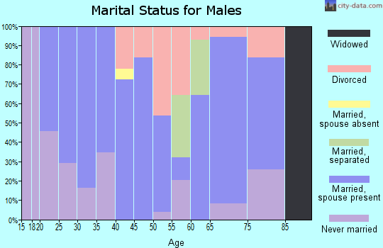 Zip code 62827 marital status for males