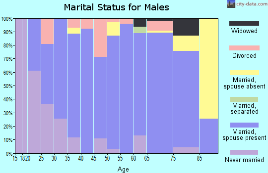 Zip code 62869 marital status for males