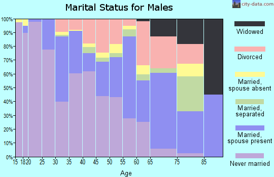 Zip code 63110 marital status for males