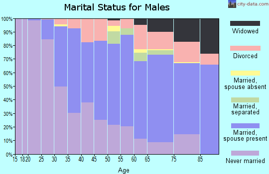 Zip code 63130 marital status for males