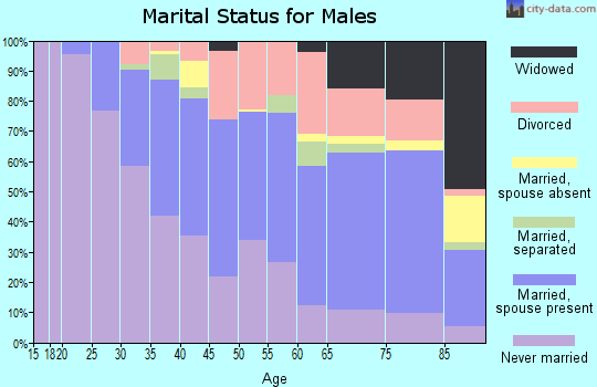 Zip code 63137 marital status for males