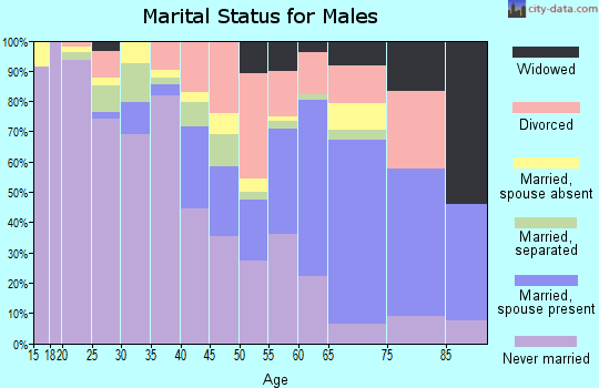 Zip code 63147 marital status for males