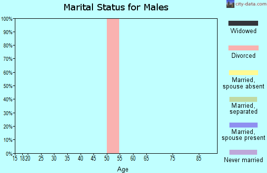 Zip code 63738 marital status for males