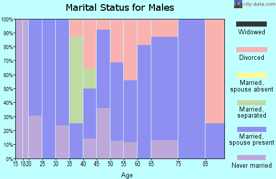Zip code 63954 marital status for males