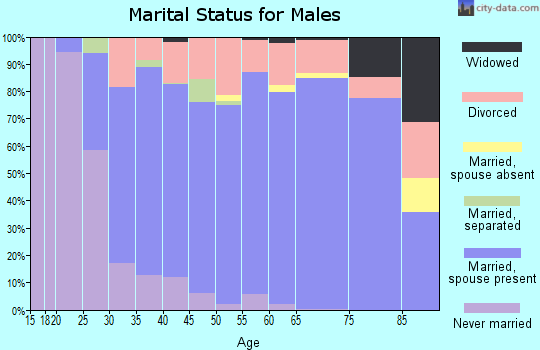 Zip code 64015 marital status for males