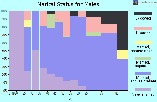 Zip code 64037 marital status for males