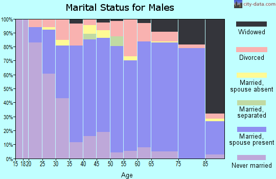 Zip code 64057 marital status for males