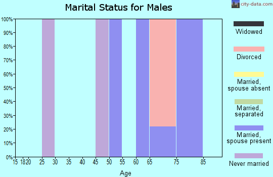 Zip code 64149 marital status for males