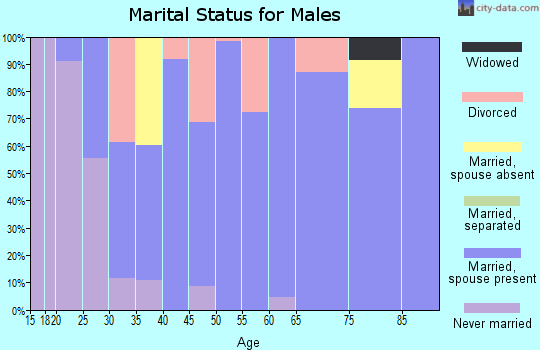 Zip code 64479 marital status for males