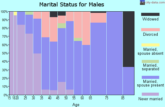 Zip code 64862 marital status for males