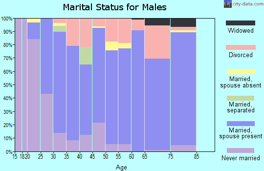 Zip code 66030 marital status for males