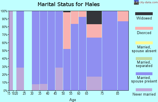 Zip code 66431 marital status for males