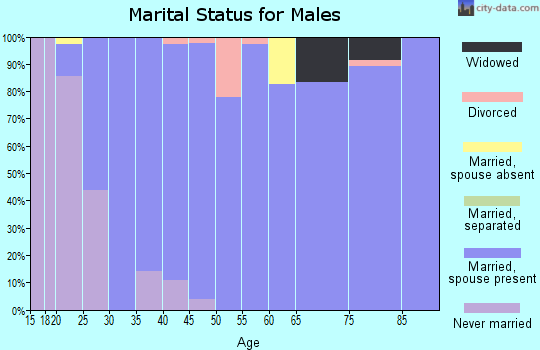 Zip code 66440 marital status for males