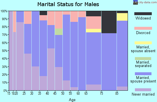 Zip code 66508 marital status for males