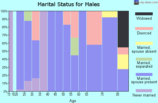 Zip code 66767 marital status for males