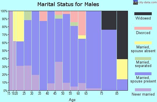 Zip code 66866 marital status for males