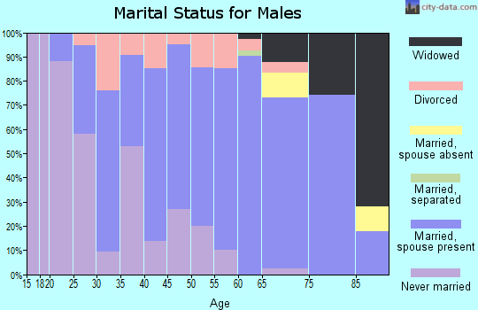 Zip code 66901 marital status for males