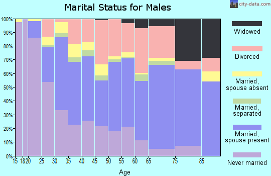 Zip code 67203 marital status for males