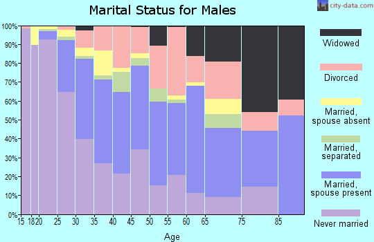 Zip code 67211 marital status for males