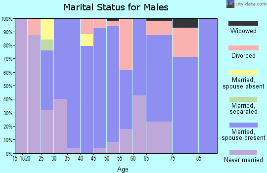 Zip code 67451 marital status for males