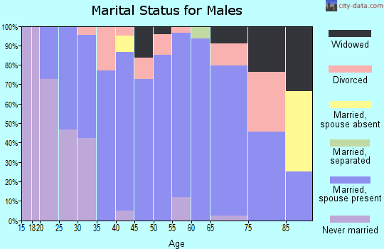 Zip code 67480 marital status for males