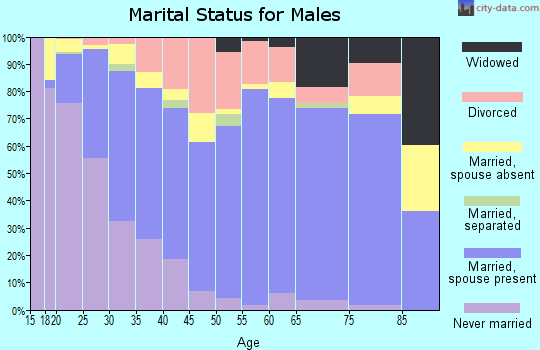 Zip code 67801 marital status for males