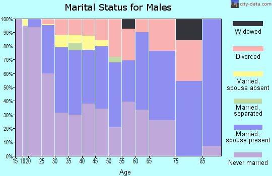 Zip code 68503 marital status for males